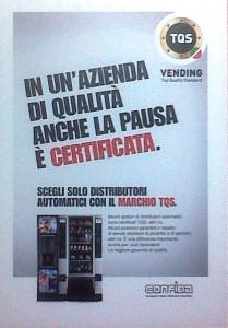 Manifesto marchio qualità vending promosso da Confida a Venditalia