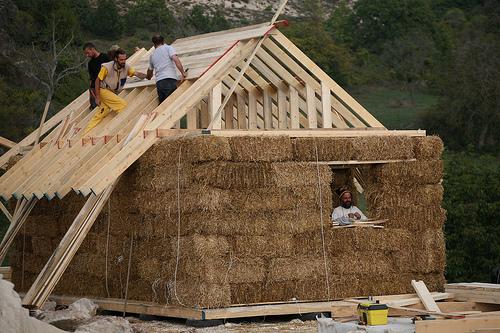 La lobby delle case di paglia la nuova edilizia for Piani di casa a basso costo con stima