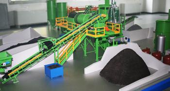 Lavaggio e recupero terre spazzamento stradale particolare modellino Ecocentro Tecnologie Ambientali