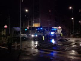 Via Sebenico incrocio Via Volturno allagate Milano, Isola, 15 ottobre 2014 ore 24 MM Servizio Idrico e Protezione Civile al lavoro