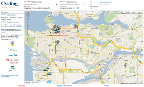 Vancouver, mappa per ciclisti urbani